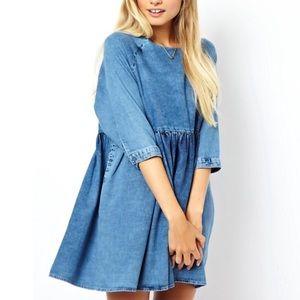 Asos Denim Babydoll Dress Size 4
